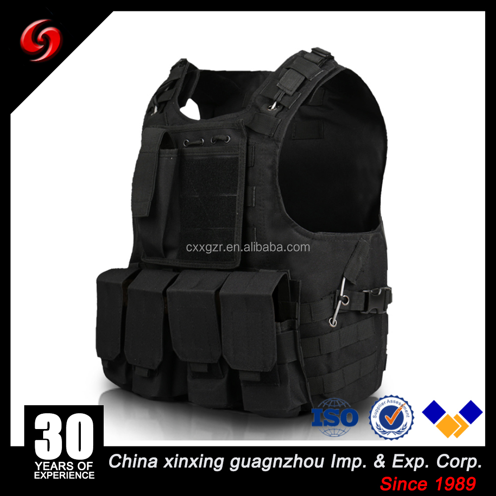 Tactical Molle Military Paint Ball Polyester Quick Release Black Khaki Army Vest