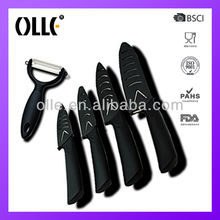 4pcs hot sale ceramic kitchen knife with peeler set made by Chongqing Olle China