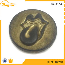 Newest Fashion Logo Embossed Antique Brass Metal Strong Press Snap Button for Trousers