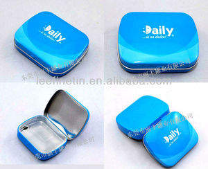 High quality hot sale small rectangular mint tin box