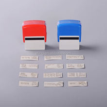 Plastic Self inking Stamp hot sale bird shape rubber stamps for diy crafts