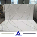 Calacatta White Quartz with Grey Veins Table Top