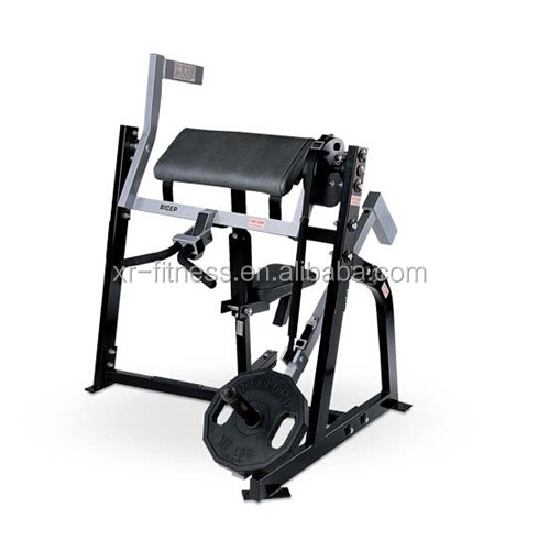 Commercial gym equipment iso-lateral biceps curl/ triceps machine for bodybuilding
