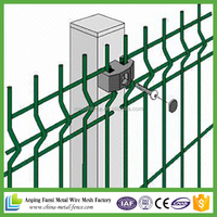 60*60mm PVC powder coated pvc coated welded wire mesh panel (FENCE & GATE)
