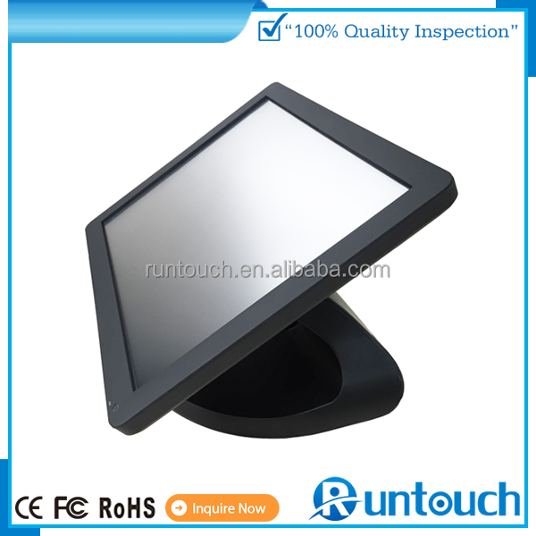 "Runtouch TPV 1024 x 768 Resistive / IR/ Capacitive 15"" inch LCD POS touch screen monitor"