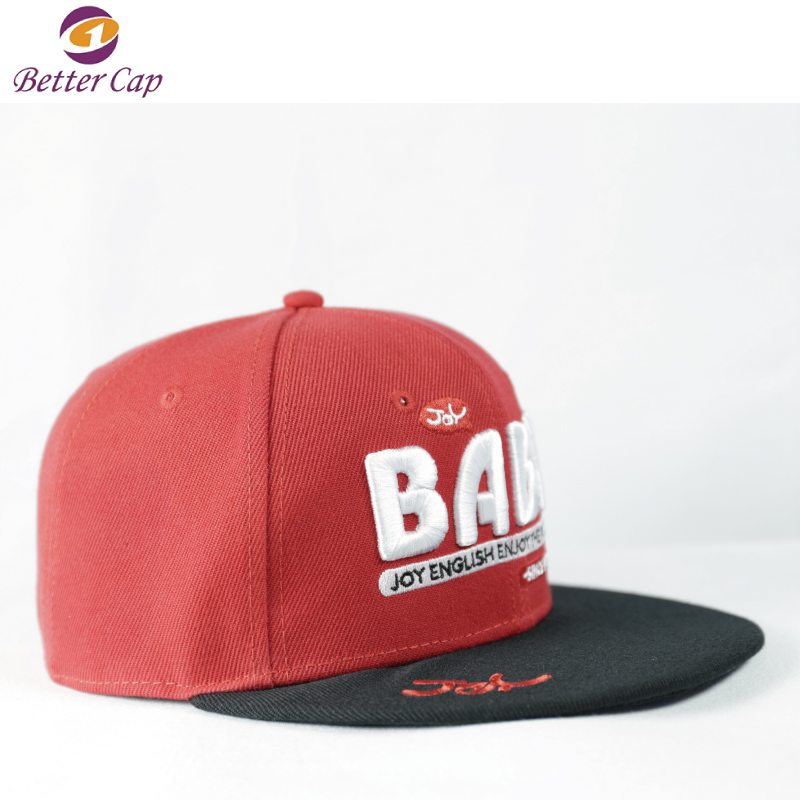 wholesale custom baby hats type embroidery flat brim baby snapback