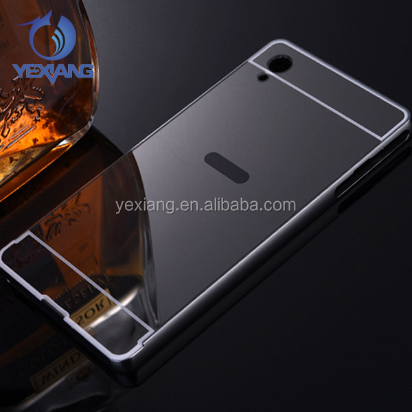 Newest mobile phone electroplate metal bumper frame mirror phone cover case for infinix x551