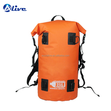 500D PVC tarpaulin custom logo waterproof dry duffle backpack bag