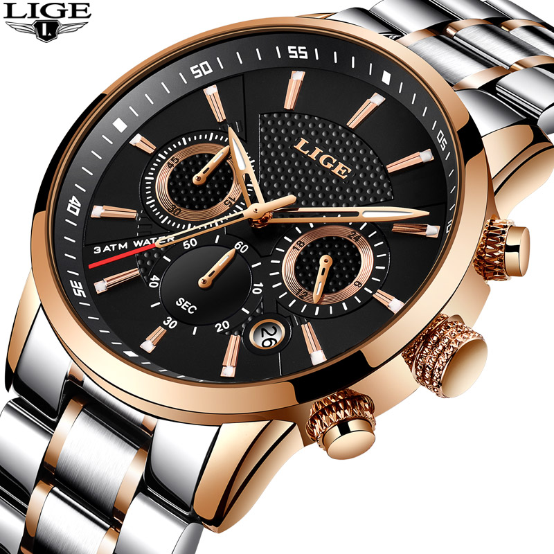 2018 New Lige Mens Watches To Luxury Brand Business Quartz Watch Men Military Sports Waterproof Wristwatch Gift Box Buy Quartz Wristwatch Male