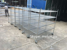 CE Industrial Heavy-duty Chrome or Black Wire Shelving for factory