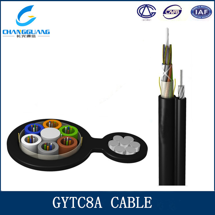 Hot sales GYTC8A self supporting G655 fiber optical Cable Aerial use