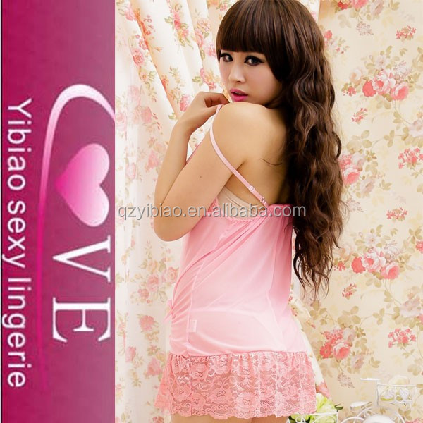 wholesale PINK Condole belt unlined upper garment short skirts nude sheer sexy lingerie babydoll 2015