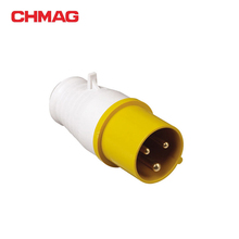 best price Industrial plug (16A, 3Poles, IP44) IECCEE electrical sockets male female yellow 013-4 32A cable strain relief tail