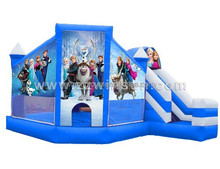 2015 hot sale pvc inflatable frozen bouncy castle slide combo for children