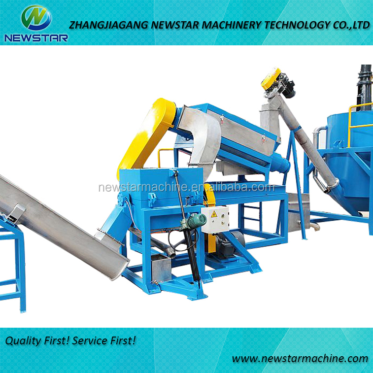 waste recycling high speed friction cleaner equipment