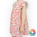 Valentine's Day LOVE Printed Girls Dresses Boutique Baby Frock Design Baby Dress Pictures