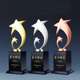 Crystal customized individual awards gold silver bronze medal spot for engraving trophy