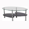 Oval dinning coffee table top tempered glass