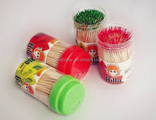 Mint or Cinnamon flavored wooden toothpicks Guangdong direct supplier