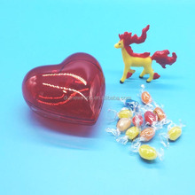 Hot Sale FDA Fruit Jelly Bean and Toys in Heart Shaped Bottle Toy Candy
