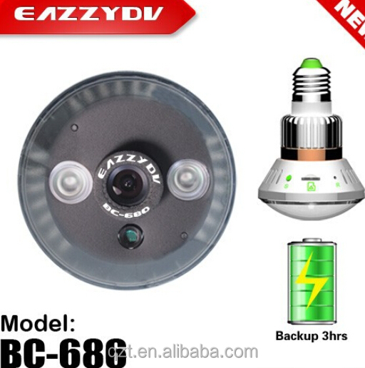 New Emergency Backup bulb cctv camera for home <strong>security</strong>