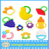 Various shaped teething silicone baby teether, food grade silicone teether for kids
