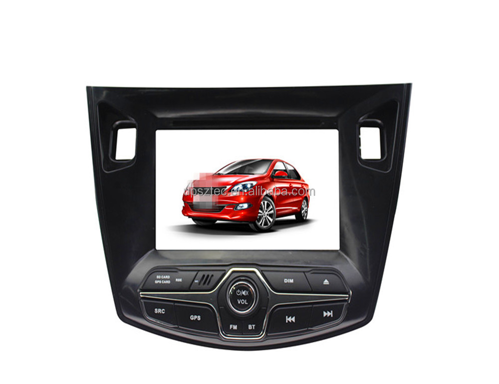 "Wince 6.0 Two DIN 7""LCD-TFT touch screen with gps navigation cheap car DVD Mp3/Mp4/Mp5 player for Chery Arrizo <strong>3</strong>"