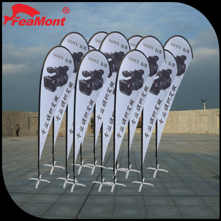 mini logo flag banner,advertising outdoor beach wholesale feather flag,flag pole water base