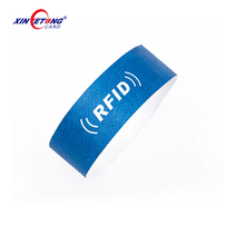 eco friendly Embroidered Printed custom logo disposable nfc smart rfid id wristband for newborns tracking patient management