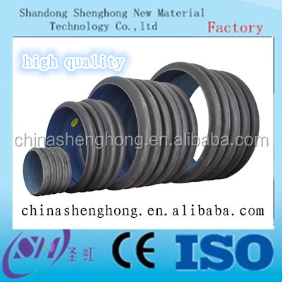 Hot selling Double walls Hdpe corrugated pipe for drainage