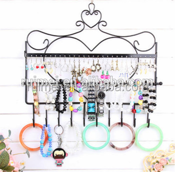 customized metal jewelry case stand jewelry display cabinet in china