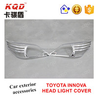 Chrome auto accessories ABS Chrome plastic head light cover for TOYOTA INNOVA car accessories in Philippines market