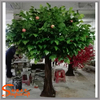 Hot sale good quality plastic leaves and fiber branches handmade artificial apple tree