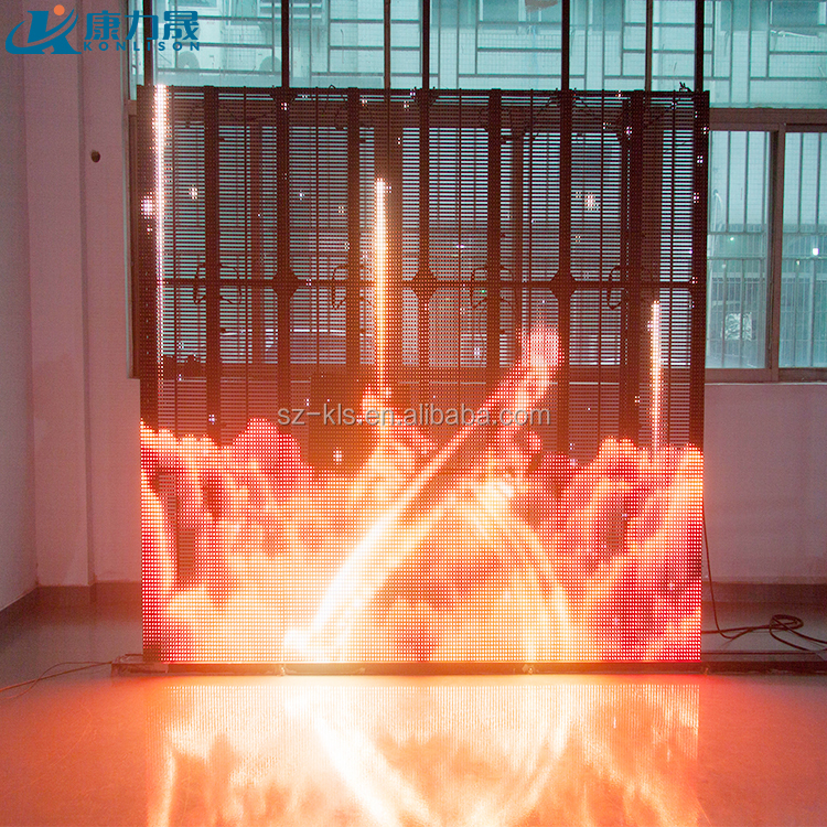 flexible led curtain display | transparent led display | outdoor led large screen display