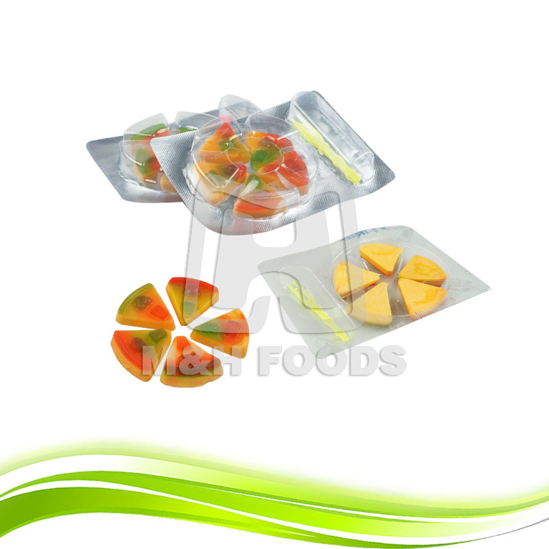 Hot Sell Custom Vegetable Gel Pizza Shape Gummy Soft Candy
