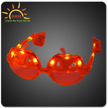 Attractive pumpkin shape led sunglasses for kids funny Halloween festival sunglasses led party glasses Halloween Supplying