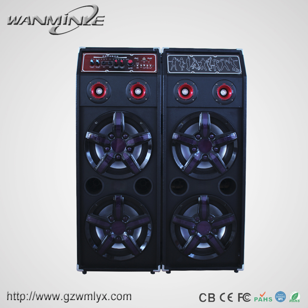 Stereo Audio Equipment Big Power AMP lLghts Loudspeaker Professional Daouble 10inch DJ Woofer Speaker