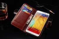 Private label 5.3 inch PU leather wallet hard mobile phone case cover for samsung note 3