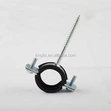 pipe clamp fitting with rubber and nail