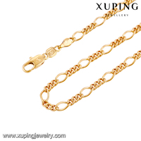 42899-xuping fashion imitation jewelry fake rose gold plated long chains mens necklace