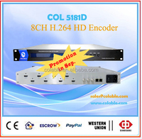 Whole sale hd h.264 iptv 8 in 1 encoder COL5181D