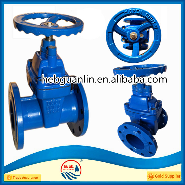 PN16 DN100 Resilient Seated Flanged Gate Valve with Prices