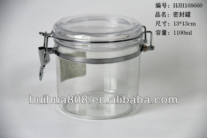 630ml plastic tea dryfood flower jar container for food
