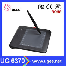 Ugee 6370 6x4 inch black color digital writing tablet