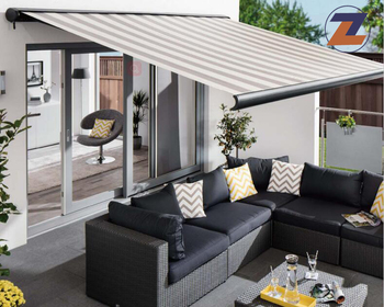 High Quality Motorized Full Cassette Aluminum Retractable Awning