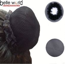 Wholesale stretch fabric hair net for business women hair accessories