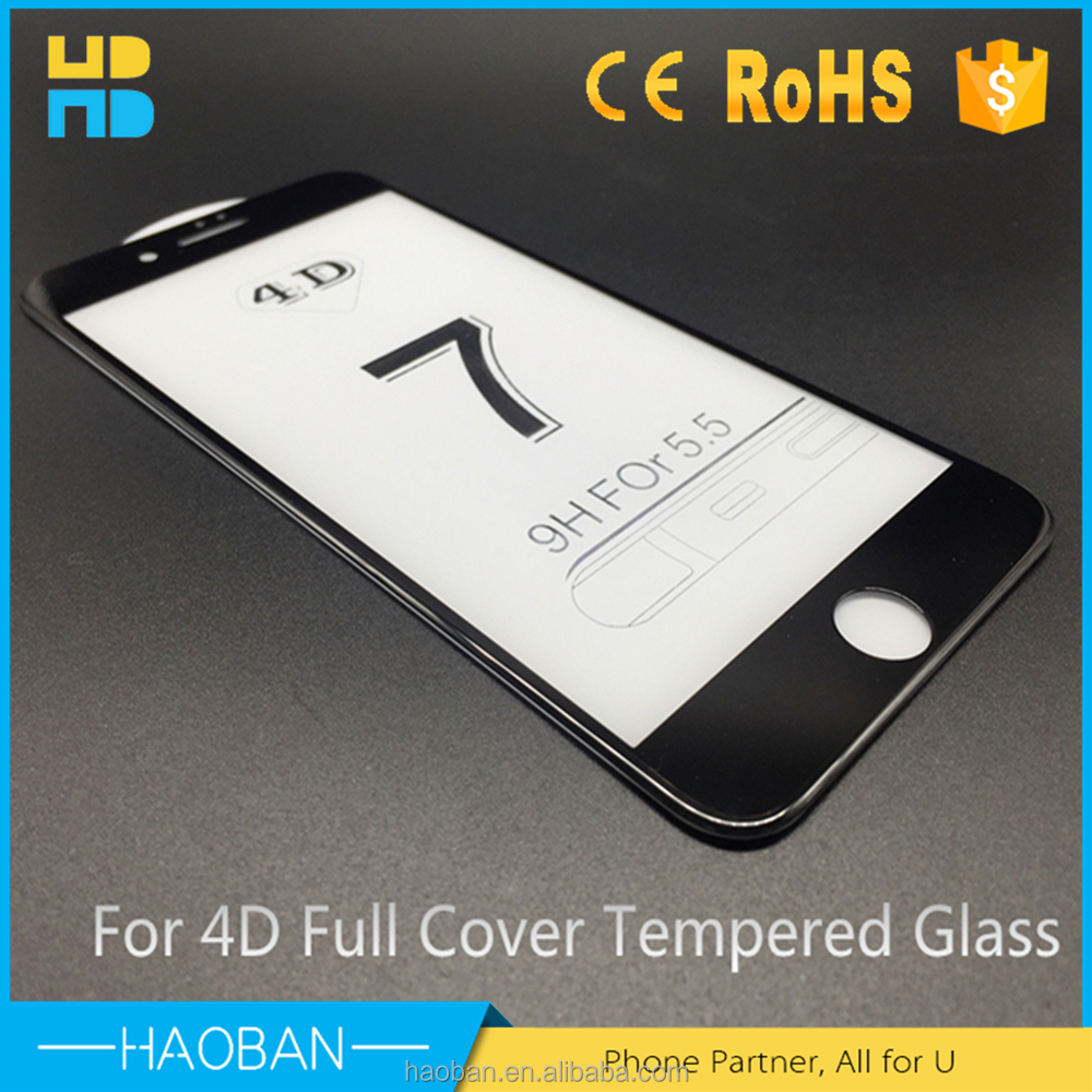 Perfectly Fit Anti Scratch 9h Tempered Glass film screen protector 3d for iphone 7