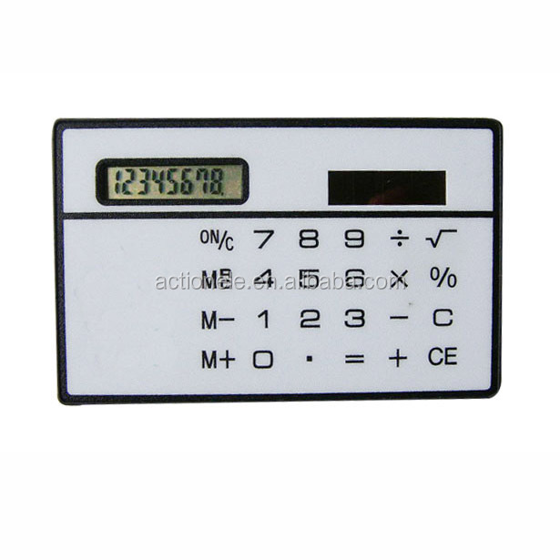 Card calculator with 8 digit for promotion