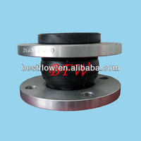 Flexible single ball rubber expansion joint