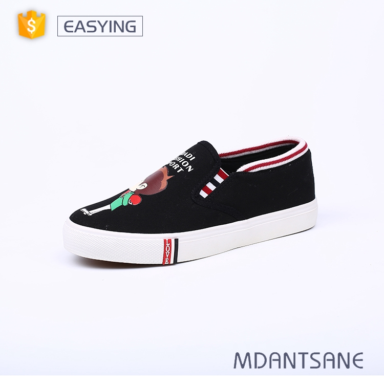 Wholesale spring beautiful girls leisure canvas shoes without lace